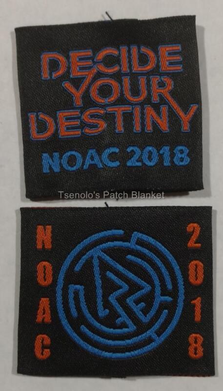 OA NOAC 2018 Uniform Shoulder Epaulet Loops Set of 2 Mint Condition FREE SHIP