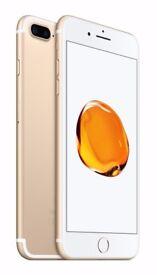 GOLD APPLE I PHONE 7 PLUS 32 GB UNLOCKED