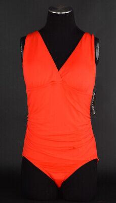 NWT JANTZEN Orange Strappy Back One Piece Swimsuit ~ Sz 14