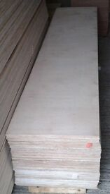 10 Pieces of NEW 12mm B/BB Grade Birch Plywood 8ft x 20in (2440mm x 500mm)