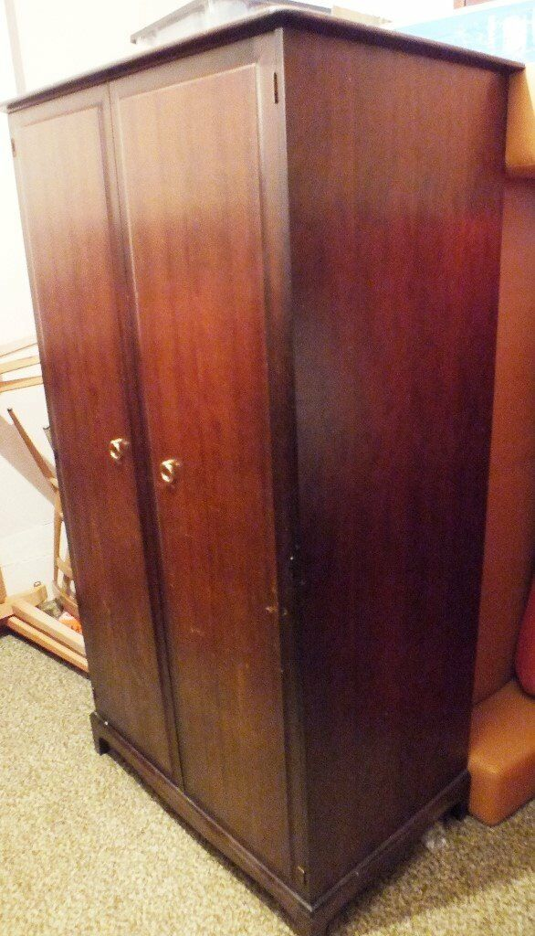 Stag minstrel 2 door mahogany wardrobe - delivery possible