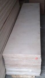 10 Pieces of NEW 9mm B/BB Grade Birch Plywood 8ft x 20in (2440mm x 500mm)