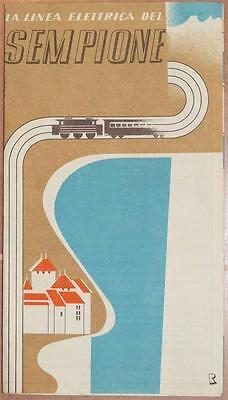 LINEA ELETTRICA DEL SEMPIONE ITALIA SVIZZERA SWITZERLAND 1938 FERROVIA FERROVIE