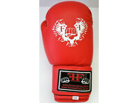Furiousfistsuk Synthetic Leather 14oz Training Gloves (Red Color)