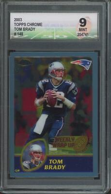 2003 Topps Chrome #148 Tom Brady Mint DGA 9