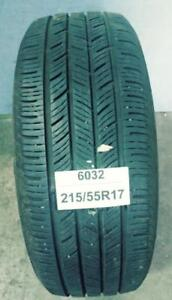 PNEU ÉTÉ USAGÉ / SUMMER USED TIRE 215/55R17 21555R17 CONTINENTAL CONTIPROCONTACT (1 SEUL DE DISPONIBLE)
