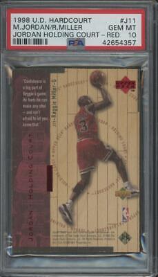 1998 Upper Deck Hardcourt Red #J11 Michael Jordan Miller /2300 Gem Mint PSA 10