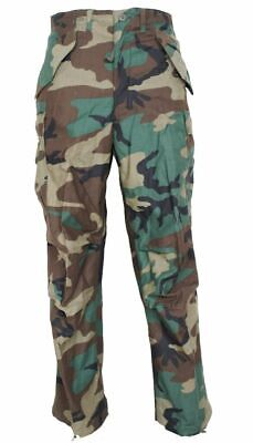 GI M65 Field Pants Woodland Camo Genuine Issue Cold Weather -