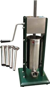 5L 5 LITRE Stainless Steel Commercial Grade Vertical Sausage Stuffer Machine