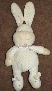 9-Prestige-Plush-Creme-Bunny-Rabbit-White-w-Purple-Dots-Sleeper-Ears