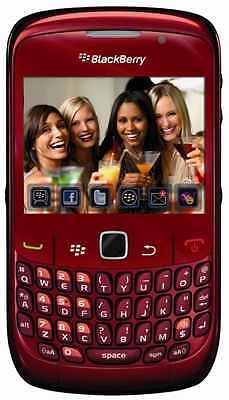 MINT RED Blackberry 8520 Curve QWERTY Cell Phone T Mobile WiFi World Quad Band on Rummage