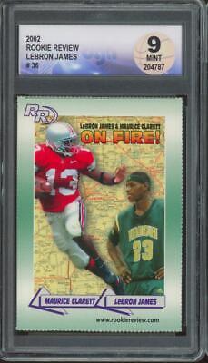 2002 Rookie Review #36 Lebron James Maurice Clarett RC Rookie Mint DGA 9