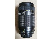 Nikon AF NIKKOR 70-210mm Lens