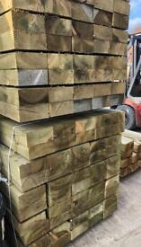 🌳 WOODEN PRESSURE TREATED RAILWAY SLEEPERS ~ NEW