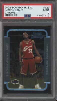 2003 Bowman Chrome #123 LeBron James RC Rookie Mint PSA 9