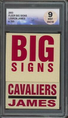 2003 Fleer Big Signs #7BS Lebron James Mint DGA 9