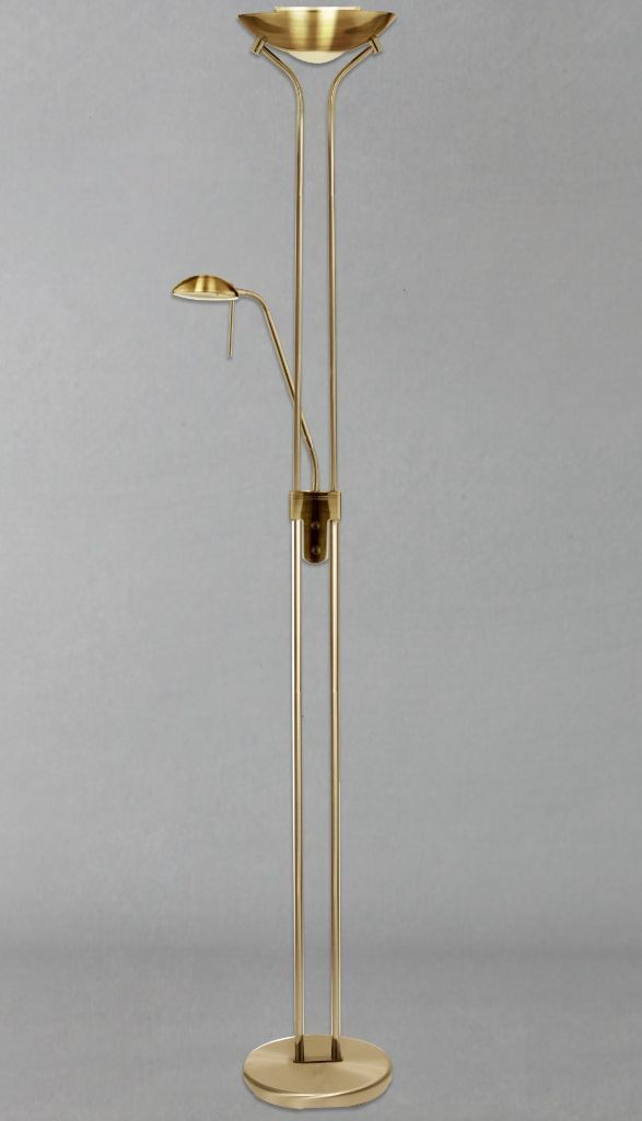 John lewis zandra floor lamp antique brass dimmabble two light twin john lewis zandra floor lamp antique brass dimmabble two light twin lamp 178cm aloadofball Image collections
