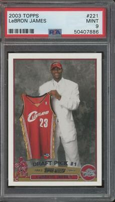 2003 Topps #221 LeBron James RC Rookie Mint PSA 9