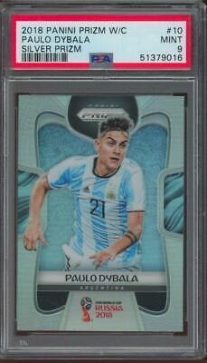 2018 Panini Prizm World Cup Silver #10 Paulo Dybala Mint PSA 9