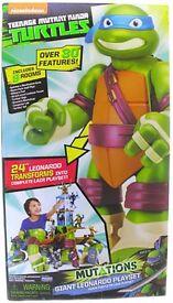 Teenage Mutant Ninja Turtles Mutations Giant Transforming Leonardo Playset NEW
