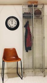 Nest of 2 single door galvanised lockers