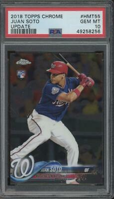 2018 Topps Chrome Update #HMT55 Juan Soto RC Rookie Gem Mint PSA 10