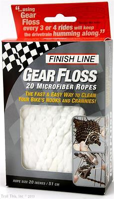 Finish Line Gear Floss   20 X 20 Inch Microfiber Bike Cleaning Ropes Cx Mtb Road