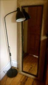 Beautiful Vintage Style Floor Lamp with Adjustable Head