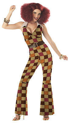 Boogie Babe Disco Licious Women 70's Hippy Adult Costume