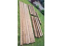 "BRAND NEW 90 x Pieces Champion Timber 4"" Treated Feather Edge Wooden Boards & 8 x 3"" Arris Rails"