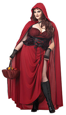 Dark Red Riding Hood Plus Size Adult Halloween Costume