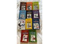 12 x Diary Of A Wimpy Kid Books In Good Condition