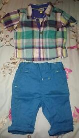 Ted Baker Shirt, Chinos & Polo shirt vest