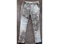 Girls Leopard Print Trousers Animal Print Leggings - Front Pockets