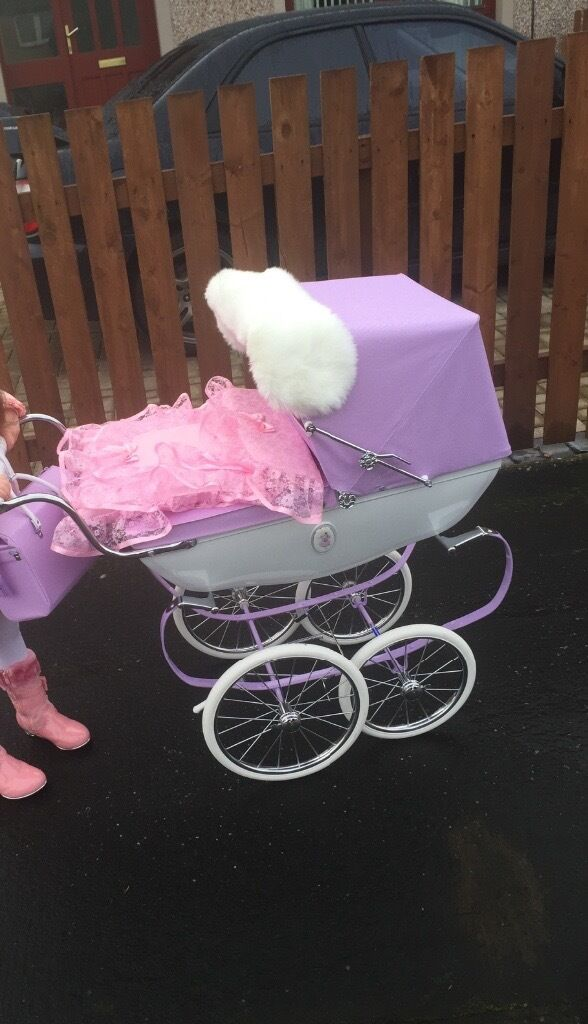 Limited Edition Snow Fairy Silver Cross Dolls Pram For