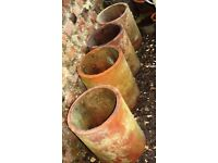 4 chimney pot liners. (ideal flower/plant pots)
