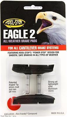 Kool-Stop Eagle 2 Cantilever Bike Brake Pads Smooth Post Dry Use - Black 2 Cantilever Brake Pads