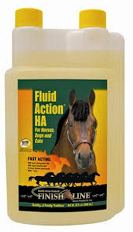 FLUID ACTION HA Liquid 32 oz Healthy Lubricate Joints Glucosamine Equine Horse