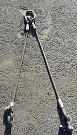 5 ton lifting tackle rig bow shackles steel rope