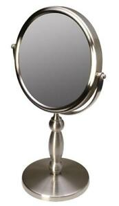 NEW Floxite Fl-15v 15 Extra Strong 15x/1x Supervision Vanity Mirror, Brushed Nickel