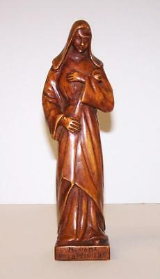 ANTIQUE Hand Carved RELIGIOUS FIGURE Souvenir From NOTRE DAME FRANCE
