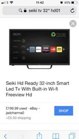 "Seiki 32"" hd with build in wifi"