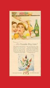 1956 half-page authentic color magazine ad for Canada Dry