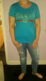 Women's GUCCI T shirts & mens Adidas & northface