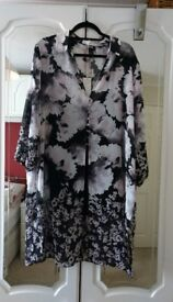 John Rocha chiffon duster coat with three quarter sleeves and camisole Size 20