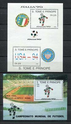 s6484) SAO TOME E PRINCIPE 1990 MNH** WC Football'90 - CM Calcio...