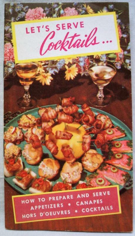 TAYLOR WINE COMPANY COCKTAIL & APPETIZER RECIPES BROCHURE GUIDE 1950s VINTAGE