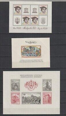 Czechoslovakia Sc #719, 1589-93, 1134a, 2446a MNH Souvenir/Mini Sheets $136.50