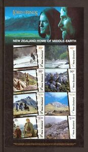NEW-ZEALAND-2004-LORD-OF-THE-RINGS-M-SHEET-MIDDLE-EARTH-MNH
