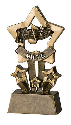 Music Star Resin Trophy FREE ENGRAVING (Star Trophy)